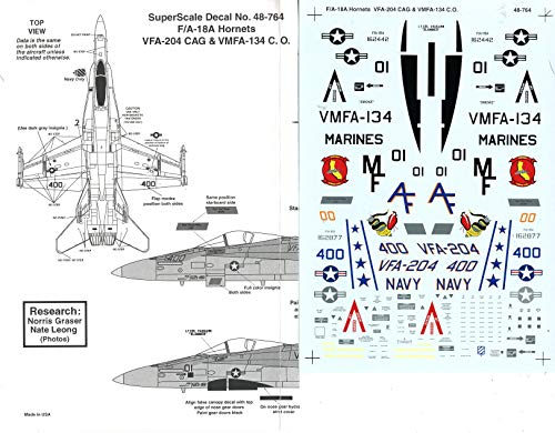 Superscale Decals 1:48 F/A-18A Hornets VFA-204 Cag for sale  Delivered anywhere in USA