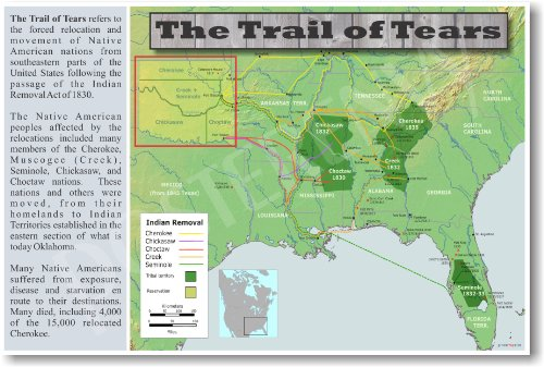 The Native American Trail of Tears - Social Studies Classroom Poster
