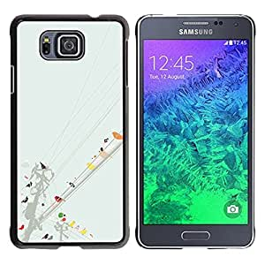 FU-Orionis Colorful Printed Hard Protective Back Case Cover Shell Skin for Samsung ALPHA G850 - Cute Birds