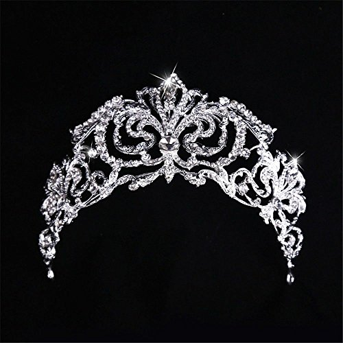 Weddwith Hair Accessories Hair styling accessories Europe crown sterling silver plating rhinestones jewelry bride crown bride jewelry