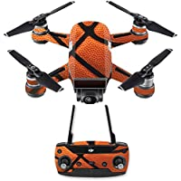 Skin for DJI Spark Mini Drone Combo - Basketball| MightySkins Protective, Durable, and Unique Vinyl Decal wrap cover | Easy To Apply, Remove, and Change Styles | Made in the USA