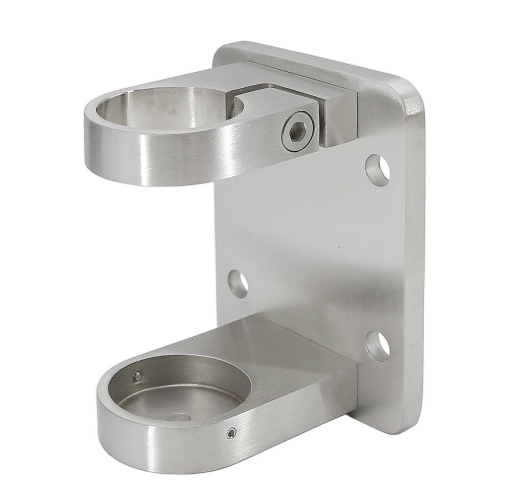 Stainless Steel 316 Grade 1-5/8 in OD (42.4 mm) Round Post Standard Fascia Mount Bracket for Balustrade, BH-142, Satin Finish