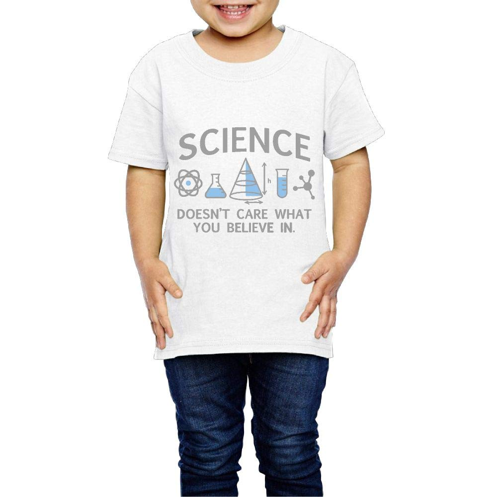 XYMYFC-E Science Doesnt Care What You Believe in 2-6 Years Old Child Short-Sleeved Tshirt