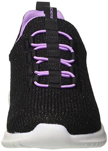 Skechers Mädchen Ultra Flex Slip On Sneaker Schwarz (Black/lavender)