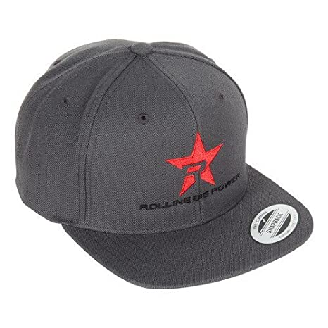 RBP RBP-SB603-GBR Gray Trucker Hat (Black Brim - Red Star)