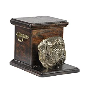 English Mastiff, memorial, urn for dog's ashes, with dog statue, ArtDog 2