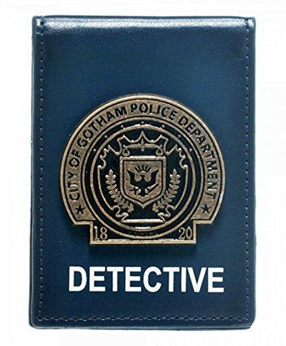 Insignia Folder - DC Comics BATMAN Metal Detective Badge Folder Bi-Fold WALLET
