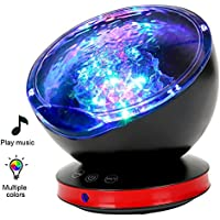 Ocean Wave Projector, MYFREE 12 LED Night Light...