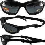 Pacific Coast Sunglasses Freedom Padded Sunglasses Matte Black Frames Grey Lenses
