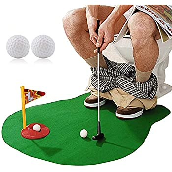 Amazon.com: HighSound Toilet Golf, Potty Putter Set Bathroom ...