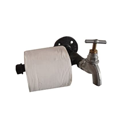 Toilet Paper Holder Industrial Pipe Style Accessories Bathroom And Kitchen Home Improvement Bathroom Fixtures
