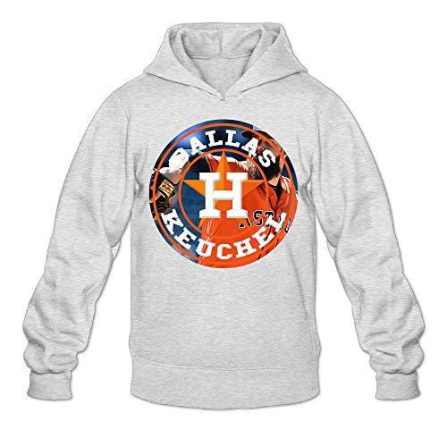 MARC Men's Dallas Keuchel Hooded Sweatshirt Ash Size M
