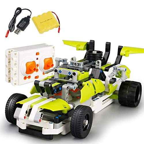 KNOSSOS RC Model Car Sdl 2017A-25 2.4Ghz USB Charging Building Block DIY RC Cars(verde)