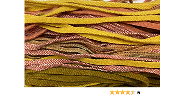 Dorr Wool Medium Violet Wool Strips on Number 8 Blade 18 Inches Long 50 Strips for Rug Hooking