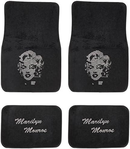 Marilyn Monroe Crystal Diamond Bling Rhinestone Carpet Car SUV Truck Floor Mats 4 PCS