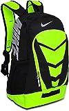 Nike Max Air Vapor Backpack Black/Volt/Metallic Silver Size Large