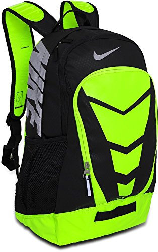 Nike Max Air Vapor Backpack Black/Volt/Metallic Silver Size Large