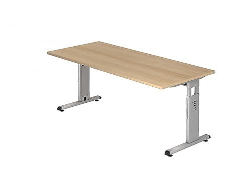 Dr de oficina escritorio 180 x 80 cm - Altura regulable: 65 - 85 ...
