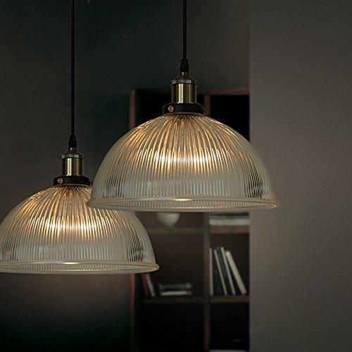 KLSD Pendant Light Fixture - Vintage Industrial Loft Style Chandelier - Hanging Edison Glass Ceiling Mounted - Great lighting fixture for bathroom, dining bedroom, kitchen( 1 Pack )