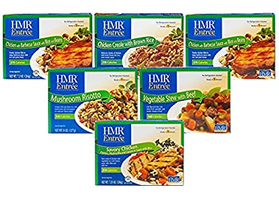 HMR Staff Picks 6-Entree Bundle: 1 of Chicken Creole with Brown Rice, Savory Chicken, Mushroom Risotto, Vegetable Stew with Beef, 2 of Chicken with Barbeque Sauce with Rice & Beans, 7.2-8 oz servings