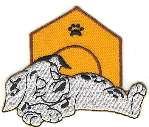 Dalmatian Embroidery (Sleeping Dipstick 101 Dalmatians Cartoon Character Embroidery Patch)