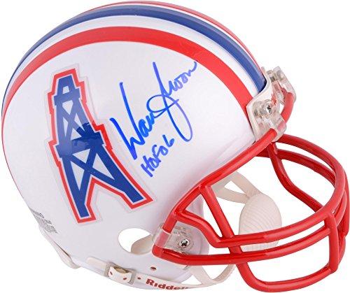 Warren Moon Houston Oilers Autographed Riddell Mini Helmet with HOF 2006 Inscription - Fanatics Authentic...
