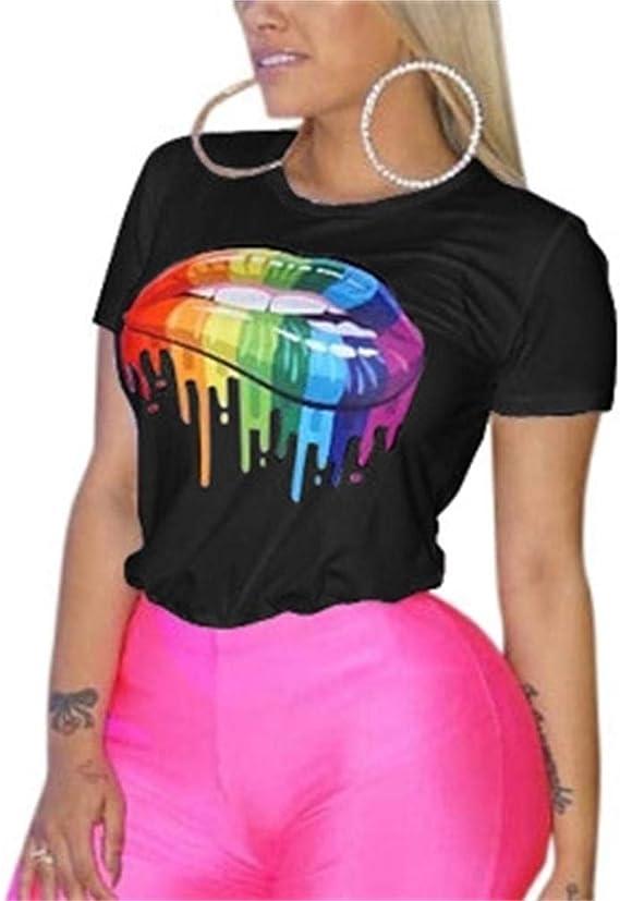 New Ladies Women Tee Printed Crew Round Neck Top T Shirt