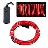 lychee EL Wire Neon Glowing Strobing Electroluminescent Light El Wire w/Battery Pack