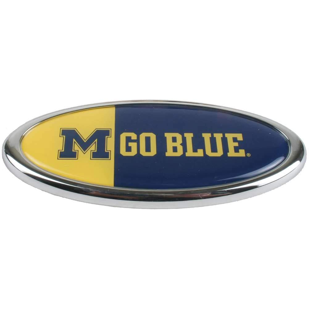 Impex M.M Go Blue Michigan Wolverines Auto Expressions Emblem Inc