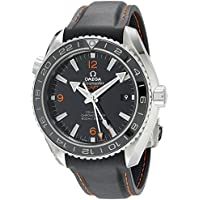 Omega Planet Ocean GMT Black Dial Rubber Strap Mens Watch