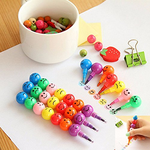 Crayons For Toddlers - 7 Colors Crayons Hot Sale Sugar-Coated Haws Cartoon Smiley Graffiti Pen Stationery For Kids Children Creative Gifts 1PCS - Bath Crayons (Creative Bath Graffiti)