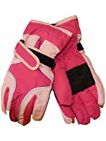 Kids Girls Ski Waterproof Warm Winter Snow Gloves GC43, Pink/Pink