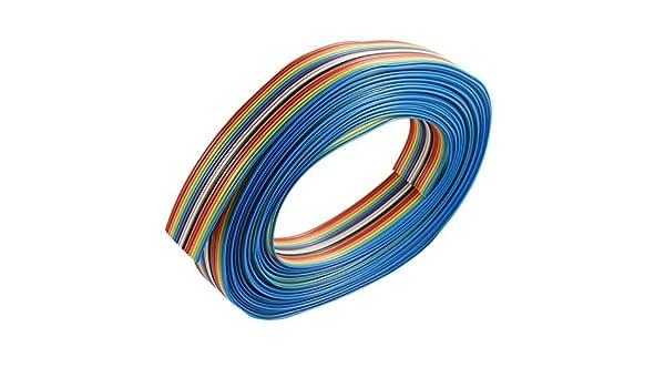eDealMax bricolaje 16 Cable de Cinta Pin IDC alambre paso DE 1, 27 mm 7M Color del arco iris: Amazon.com: Industrial & Scientific