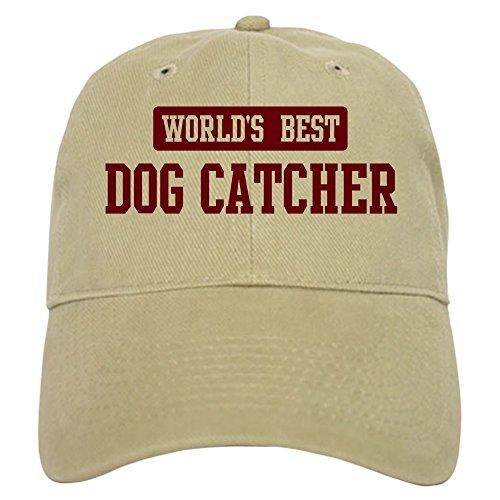 CafePress Worlds Best Dog Catcher Baseball Cap with Adjustable Closure, Unique Printed Baseball Hat Khaki ()