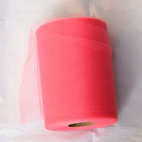 Coral Tulle Roll - 6 Inch X 100 Yard - Tulle for Decoration and Tutu -