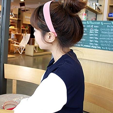LONEEDY 6 PCS Hard Headbands 1 Inch Wide Non-slip Ribbon Hairband for Women