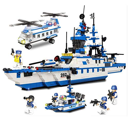 City Coast Guard Patrol,Children's Toy Building Blocks,Urban Building Blocks Assembling Toys,Patrol Warship Carrier,Tank Cars, Police Cars, Anti-aircraft Artillery, Transport Helicopters, Patrol Ships ()