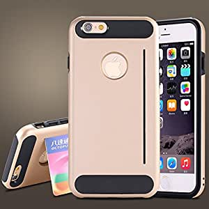 Cool Funny Hard Armor Case for iphone 6 4.7 i6 Silicon Back Tough Cover Kickstand Logo Hole 50pcs/lot DHL/Fedex Wholesale R04886 --- Color:Black