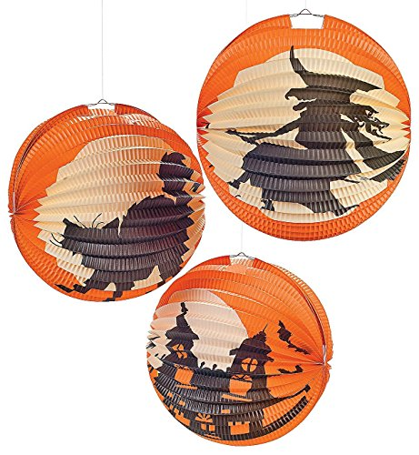 Halloween Paper Lanterns - 12 (Witches Bowling Halloween Games)