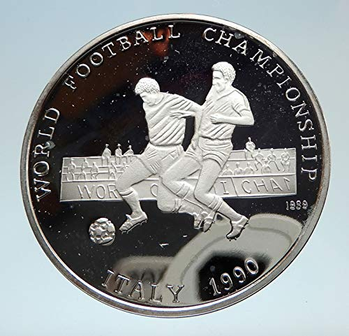- 1990 unknown 1990 AFGHANISTAN FIFA World Cup Soccer Football G coin Good Uncertified