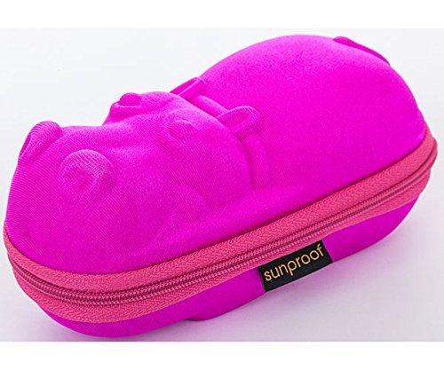 Banz Sunglasses Case (Accessories) Pink Hippo by - Sunglasses Baby Banz Case