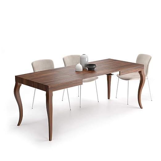 Mobili Fiver, Mesa Extensible Classico, Nogal, 120 x 80 x 76 cm ...