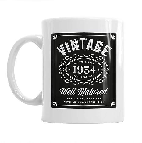 65th Birthday Gift Idea Vintage Classic Bourbon For Men Or Women Him Her 1954 Coffee Mug Keepsake Amazoncouk Kitchen Home