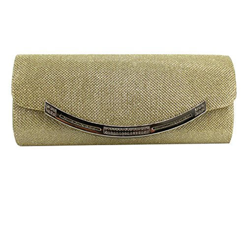 Bling Evening Prom Purse Party Handbag Women's Glitter Sequin Gold Envelope Bag Meliya Clutch wSCXnq