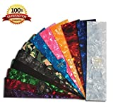 DIY Guitar Pick Punch Sheets - 25 Pcs - Musicians Recommended Light, Medium and Heavy Celluloid Guitar Pick Strips - 12 Stunning Colors to Create Customized Guitar Picks with Any Picks Maker - 100% Lifetime Satisfaction Guaranteed