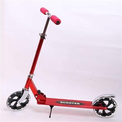 ZHIJINLI Scooter de Dos Ruedas de Aluminio para Adultos, para niños, para Adultos,