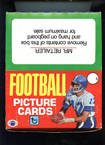 (1981 Topps Football Card Set Rack Pack Box JOE MONTANA ROOKIE Equals 2 Wax Rak)