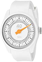 40Nine Men's 'Solo' Quartz Plastic and Silicone Casual Watch, Color:White (Model: 40N4.2.2)