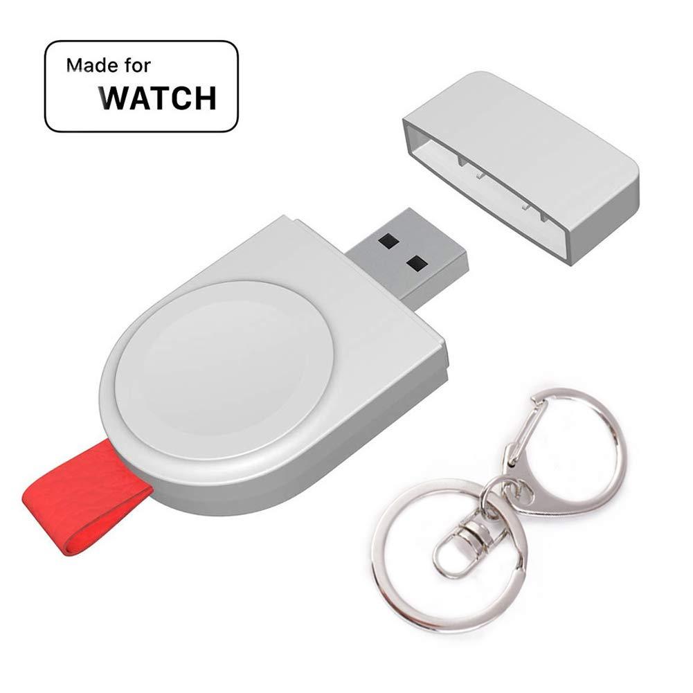 Lenture Watch Cargador Inalámbrico USB, Reloj Portátil Magnético Wireless Charger Compatible con Watch Series 4/3/2/1/Sport 38/42mm con Llavero ...