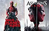 Horsing Around with Deadpool When He Should Be Working Slipcover Series Assassin's Creed & War for the Planet of the Apes 2-Blu-ray Bundle